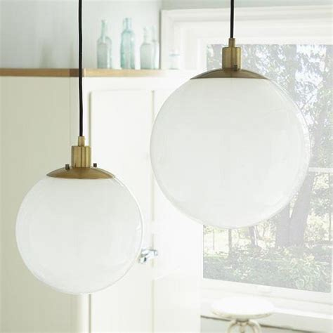 West Elm Pendant Light Globe Pendant Milk Finish West Elm