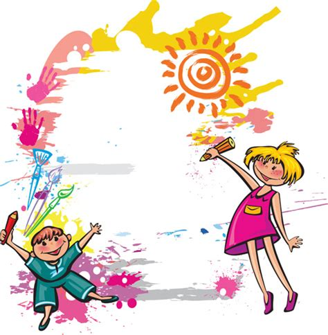 cute kids design vector 03 vector people free download