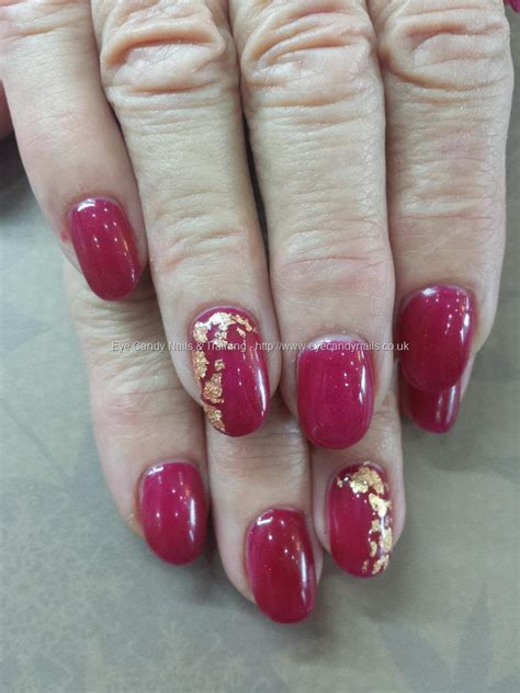 S66 Slippers eye nails ruby slippers with gold leaf