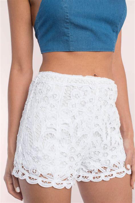 Lace Shorts white shorts lace up shorts lace