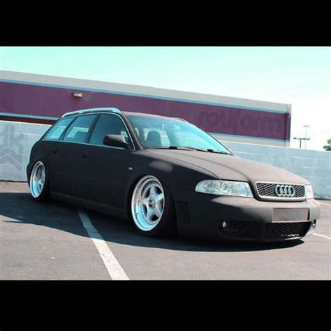audi a4 matte black front kit for 1996 2002 audi b5 chassis vehicles