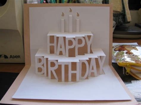 birthday 3d card template 25 best ideas about diy birthday cards on
