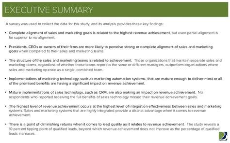 sales marketing alignment benchmarking report summary