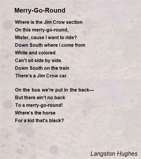 biography of langston hughes poems merry go round poem by langston hughes poem hunter