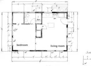 Floor plan cabin at the beach under 600 square feet
