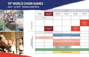 Calendar Events 2018 World Choir Tshwane 2018 Interkultur