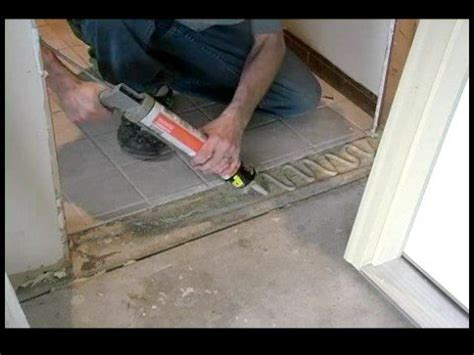 How To Replace A Threshold On An Exterior Door How To Replace A Garage Entry Door Gluing The Threshold Of A Garage Entry Door