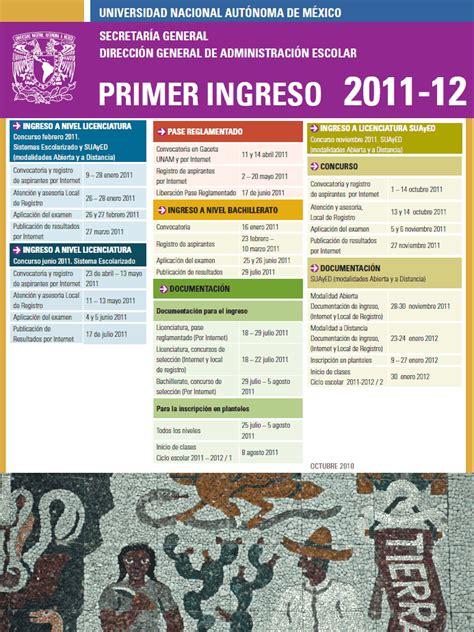 Calendario Escolar Unam 2011 Educaci 243 N Caf 233 Abren La Convocatoria Para El Ingreso A La