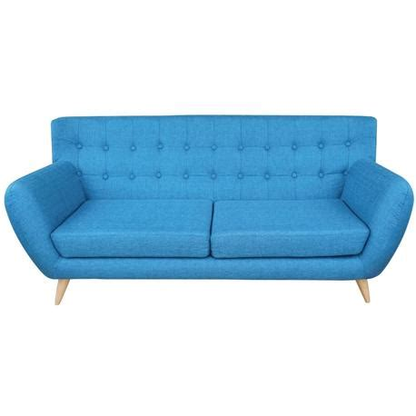blue fabric sofas sofa 3 seats fabric blue