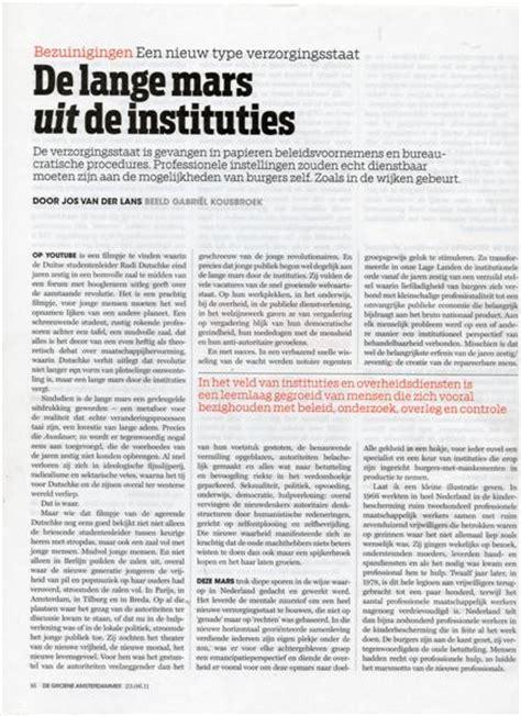 Essay Burgerkracht by Jos Der Lans Weblog