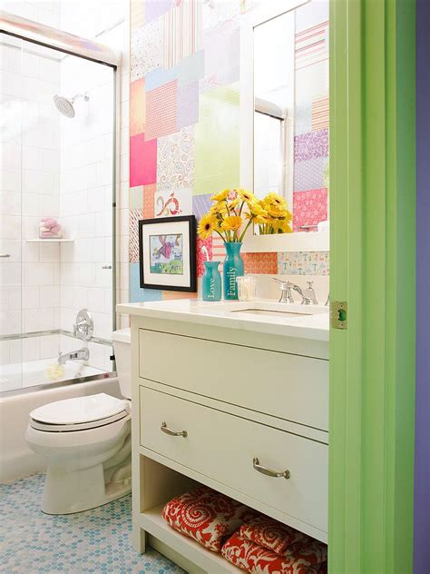 kids bathroom colors craft your style decoupage and decorate with custom wallpaper