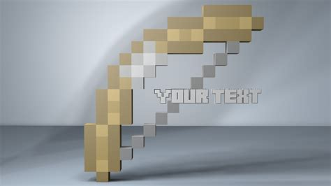 minecraft intro template minecraft bow and arrow intro template c4d minecraft project