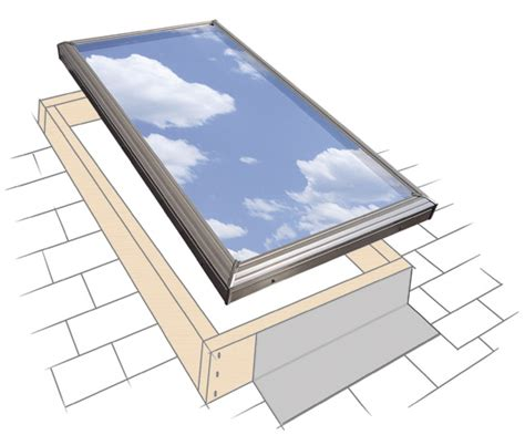 flat roof skylight velux curb mounted skylights replacement skylights flat