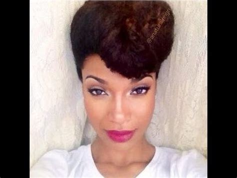 natural hair pinned up easy and fun natural pin up hair style youtube