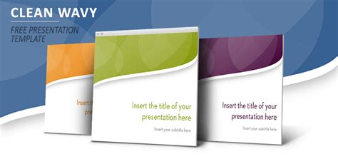Clean Wavy Plantilla Powerpoint E Impress Clean Powerpoint Template