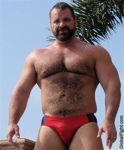 tight speedo furry chest daddy tight wet speedos musclemen