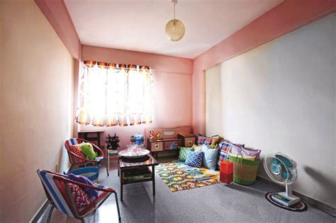 a retro style hdb flat decorated with a trishaw home