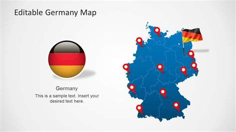 Editable Germany Map Template For Powerpoint Slidemodel Editable Powerpoint Templates