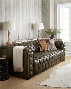 money green leather sofa rustic industrial living room and bedroom on