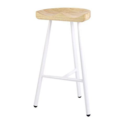 light wood bar stools buy white 3 leg metal bar stool with solid light wood seat
