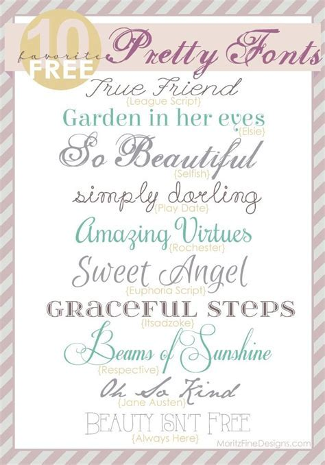 Pretty, elegant fonts   free to download   use for wedding