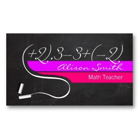 Math Business Card Template by 1000 Images About Tutor Business Card Sles On