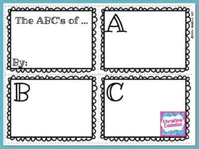 Classroom Freebies Free Abc Book Template Abc Book Project Template
