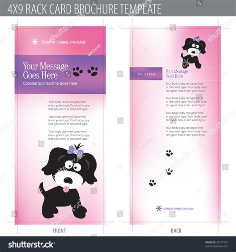 4x9 rack card template free 4x9 rack card brochure template includes stock vector