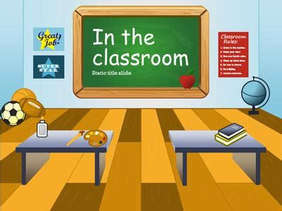 in the classroom a powerpoint template from