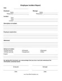 Employee Incident Report Form Template by Employee Incident Report Form