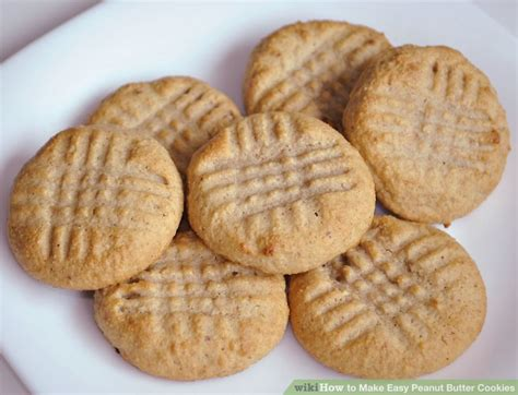 how to make easy peanut butter cookies with pictures