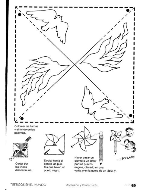 holy spirit pentecost coloring pages materiales de religi 211 n cat 211 lica mayo 2012
