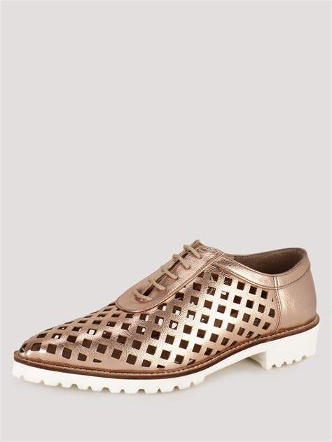 cut shoes for buy koovs laser cut lace up shoes for s gold