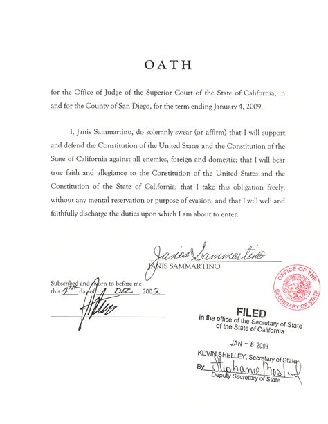 image gallery oath of office template