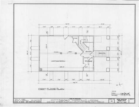 masonic lodge floor plan first floor plan pittsboro masonic lodge pittsboro
