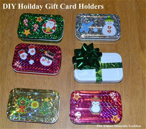 the almost domestic goddess diy holiday gift card holders