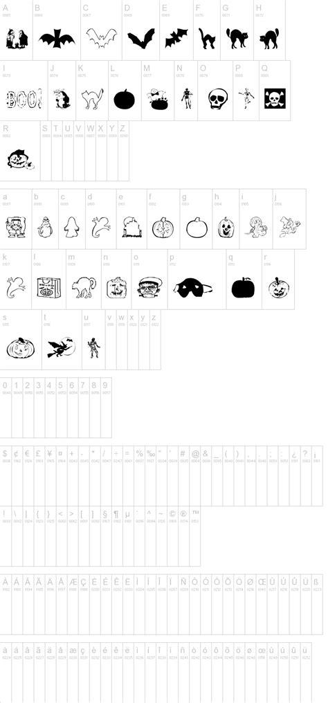 dafont halloween aez halloween dingbats font dafont com