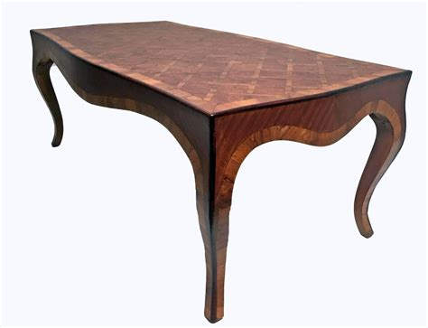 inlaid burl wood parquetry cocktail coffee table italian