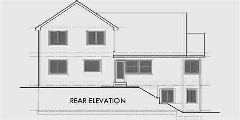 free home plans sloping land house plans side sloping lot house plans 4 bedroom house plans house