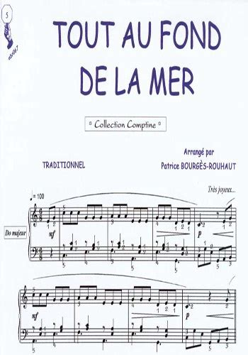 libro tout au fond partitions tout au fond de la mer traditionnel piano seul