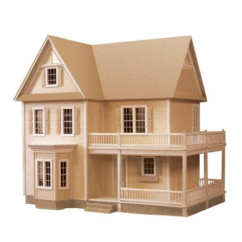 wooden doll house kits victoria s farmhouse dollhouse kit 94592 the home depot