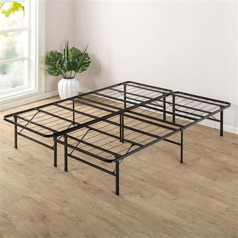 queen metal bed frame walmart lucid foldable metal platform bed frame and mattress