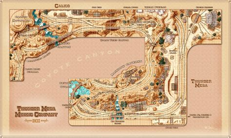 layout now thunder mesa mining co video log revised track plan