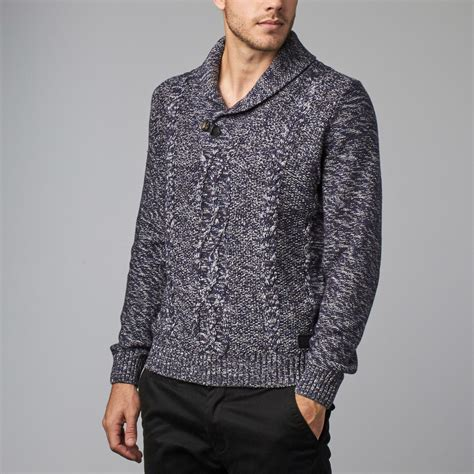 Jaket Sweater F 21 Navy 1 shawl collar sweater navy s member touch of modern