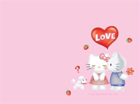 wallpaper hello kitty san valentin hello kitty valentine wallpapers wallpaper cave