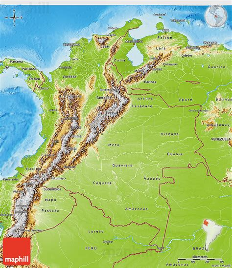 physical map of colombia physical 3d map of colombia