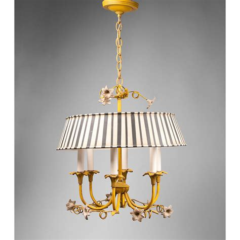 Italian Tole Chandelier Italian Tole Chandelier With Striped Shade From Piatik On Ruby