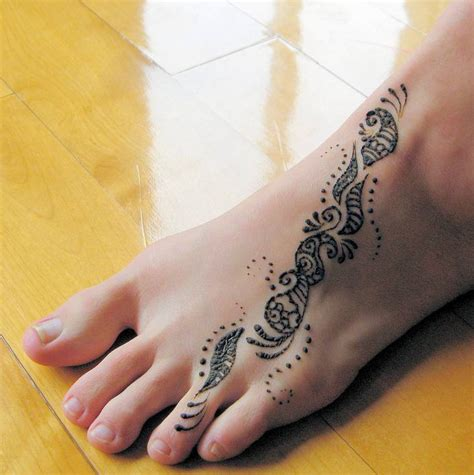 henna style foot tattoo henna tattoos tattoos to see