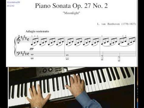 tutorial piano claro de luna pruebas video partitura aprendo el claro de luna youtube