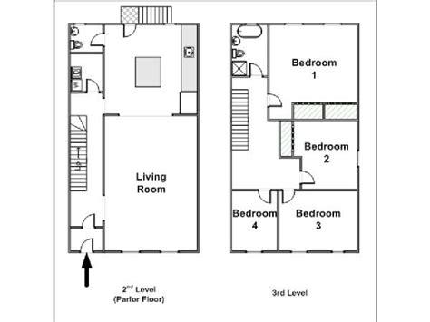 4 Bedroom Floor Plans logement 224 new york location meubl 233 e t5 clinton hill